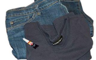 Как самостоятельно убрать клей с джинсов в домашних условиях