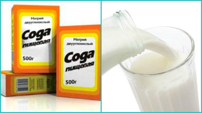 Молоко с содой могут значительно упростить процесс чистки.