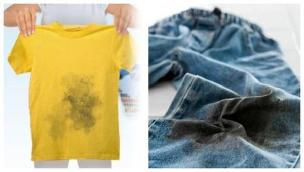 Очищаем одежду от смоляных пятен