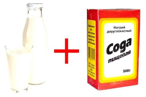 Метод очистки молоком и содой