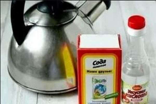 Сода для чистки чайника