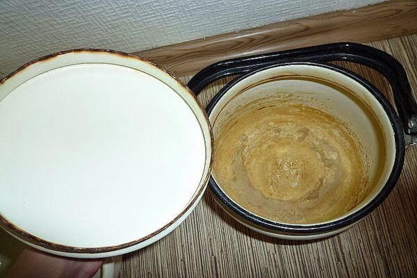 Осадок на стенках посуды