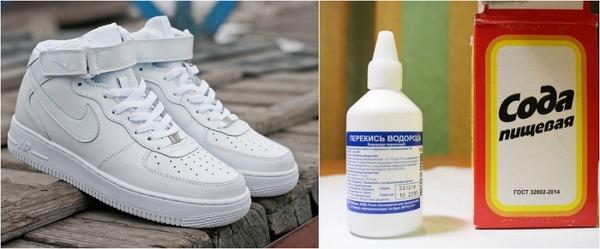 Очистка подошвы кроссовок