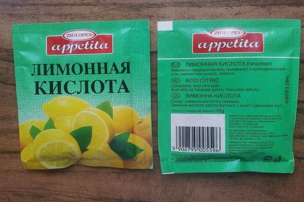 Применение лимонной кислоты для очистки