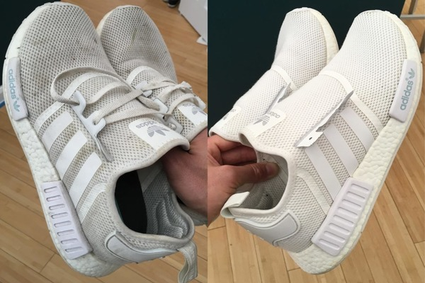 Удаляем загрязнения с белой обуви