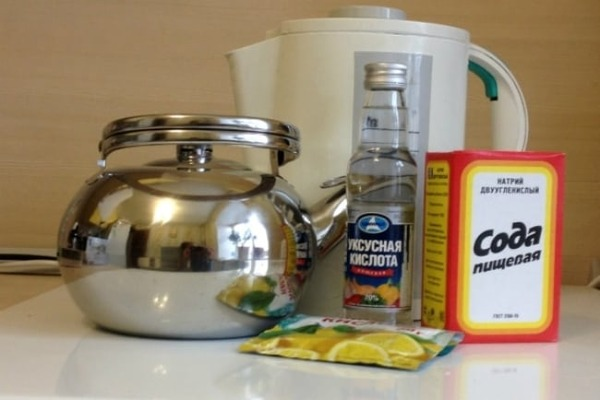 Народные средства для очистки чайника