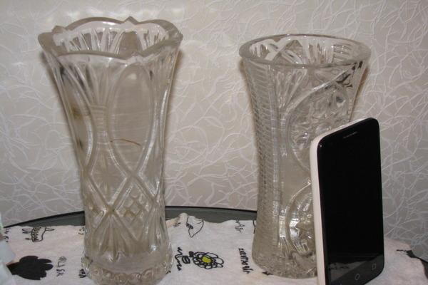 Хрустальные вазы нуждаются в чистке