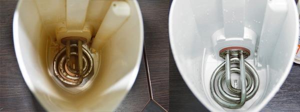 Появление специфических загрязнений на стенках чайника